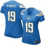 Camiseta San Diego Chargers Alworth Azul Nike Game NFL Mujer