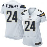 Camiseta San Diego Chargers Flowers Blanco Nike Game NFL Mujer