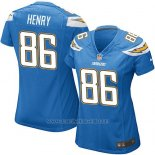 Camiseta San Diego Chargers Henry Azul Nike Game NFL Mujer