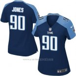 Camiseta Tennessee Titans Jones Azul Oscuro Nike Game NFL Mujer