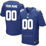 Camisetas NFL Elite Hombre New York Giants Personalizada Azul