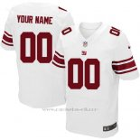 Camisetas NFL Elite Hombre New York Giants Personalizada Blanco