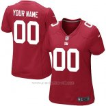 Camisetas NFL Limited Mujer New York Giants Personalizada Rojo