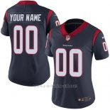 Camisetas NFL Mujer Houston Texans Personalizada Azul