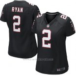 Camiseta Atlanta Falcons Ryan Negro Nike Game NFL Mujer