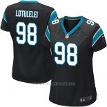 Camiseta Carolina Panthers Lotulelei Negro Nike Game NFL Mujer
