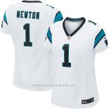 Camiseta Carolina Panthers Newton Blanco Nike Game NFL Mujer