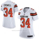 Camiseta Cleveland Browns Crowell Blanco Nike Game NFL Mujer
