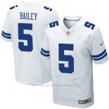 Camiseta Dallas Cowboys Bailey Blanco Nike Elite NFL Hombre