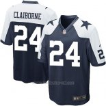 Camiseta Dallas Cowboys Claiborne Negro Blanco Nike Game NFL Nino