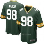 Camiseta Green Bay Packers Guion Verde Militar Nike Game NFL Nino