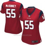 Camiseta Houston Texans McKinney Rojo Nike Game NFL Mujer