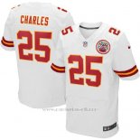 Camiseta Kansas City Chiefs Charles Blanco Nike Elite NFL Hombre