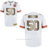 Camiseta Kansas City Chiefs Houston Blanco Nike Gold Elite NFL Hombre