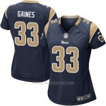 Camiseta Los Angeles Rams Gaines Negro Nike Game NFL Mujer