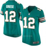 Camiseta Miami Dolphins Griese Verde Oscuro Nike Game NFL Mujer