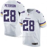 Camiseta Minnesota Vikings Peterson Blanco Nike Elite NFL Hombre
