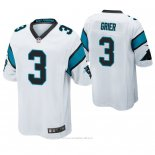 Camiseta NFL Game Hombre Carolina Panthers Will Grier Blanco