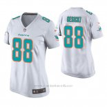 Camiseta NFL Game Mujer Dolphins Mike Gesicki Blanco