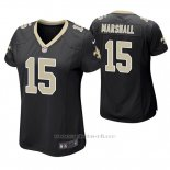 Camiseta NFL Game Mujer New Orleans Saints Brandon Marshall Negro