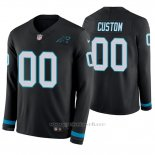 Camiseta NFL Hombre Carolina Panthers Personalizada Negro Therma Manga Larga