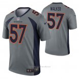 Camiseta NFL Legend Denver Broncos Demarcus Walker Inverted Gris