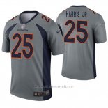 Camiseta NFL Legend Hombre Denver Broncos 25 Chris Harris Jr Inverted Gris