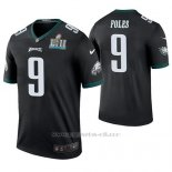 Camiseta NFL Legend Hombre Philadelphia Eagles Nick Foles Negro Super Bowl Lii Champions Color Rush