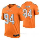 Camiseta NFL Legend Miami Dolphins Christian Wilkins Color Rush Naranja