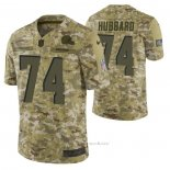Camiseta NFL Limited Cleveland Browns 74 Chris Hubbard 2018 Salute To Service Camuflaje