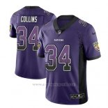 Camiseta NFL Limited Hombre Baltimore Ravens Alex Collins Violeta 2018 Drift Fashion Color Rush