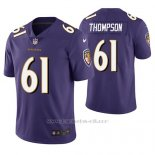 Camiseta NFL Limited Hombre Baltimore Ravens Alex Thompson Violeta Vapor Untouchable