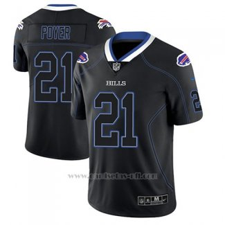 Camiseta NFL Limited Hombre Buffalo Bills Jordan Poyer Negro Color Rush 2018 Lights Out
