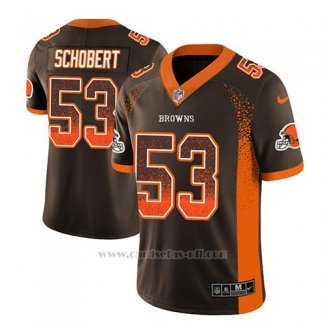 Camiseta NFL Limited Hombre Cleveland Browns Joe Schobert Marron 2018 Drift Fashion Color Rush