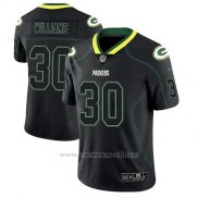 Camiseta NFL Limited Hombre Green Bay Packers Jamaal Williams Negro Color Rush 2018 Lights Out