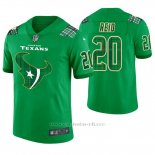 Camiseta NFL Limited Hombre Houston Texans Justin Reid St. Patrick's Day Verde