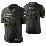 Camiseta NFL Limited Hombre Kansas City Chiefs Dee Ford Golden Edition Negro
