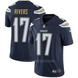 Camiseta NFL Limited Hombre Los Angeles Chargers 17 Philip Rivers Azul Stitched Apor Untouchable