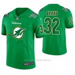 Camiseta NFL Limited Hombre Miami Dolphins Kenyan Drake St. Patrick's Day Verde