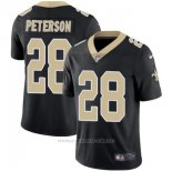 Camiseta NFL Limited Hombre New Orleans Saints 28 Peterson Negro Vapor Untouchable