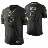 Camiseta NFL Limited Hombre New Orleans Saints Drew Brees Golden Edition Negro