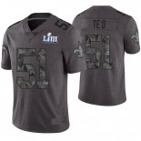 Camiseta NFL Limited Hombre New Orleans Saints Manti Te'o Gris Super Bowl LIII