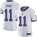 Camiseta NFL Limited Hombre New York Giants 11 Simms Blanco