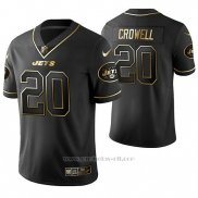 Camiseta NFL Limited Hombre New York Jets Isaiah Crowell Golden Edition Negro