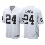 Camiseta NFL Limited Hombre Oakland Raiders 24 Marshawn Lynch Game Blanco