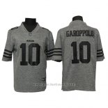 Camiseta NFL Limited Hombre San Francisco 49ers 10 Jimmy Garoppolo Gris