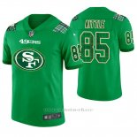 Camiseta NFL Limited Hombre San Francisco 49ers George Kittle St. Patrick's Day Verde