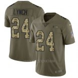 Camiseta NFL Limited Hombre Seattle Seahawks 24 Marshawn Lynch Stitched 2017 Salute To Service