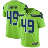 Camiseta NFL Limited Hombre Seattle Seahawks 49 Shaquem Griffin Verde Stitched Rush