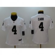 Camiseta NFL Limited Mujer New Orleans Saints 4 Carr Blanco